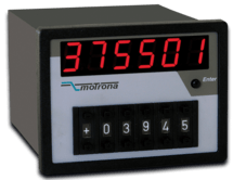 Motrona PB541 PROFIBUS Indicator & Preset Unit as Combination